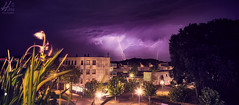 Mother Nature just woke me up.. (Hans van Eijsden) Tags: lightning thunder nature landscape zwolle netherlands night