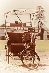 Vintage rickshaw, ready for restoration (mpp26) Tags: vehicle vintage rickshaw restoration sepia vignette tricycle