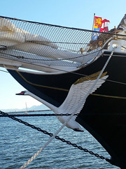 Nave Italia (collage42 Pia-Vittoria//) Tags: navi italia porto cagliari sardegna polena mare see ship port