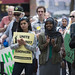 Protesters against Islamophobia and hate speech