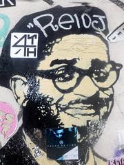 dunnowhosetheguy-02 (Quetzalcoatl002) Tags: music graffity streetart glasses smile stickers graffiti graffityart amsterdam face street