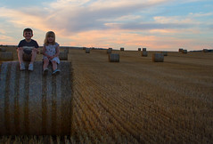 IMG_9939 (ct_purley) Tags: hay bales isle wight canon 7d fields sunny children brother sister