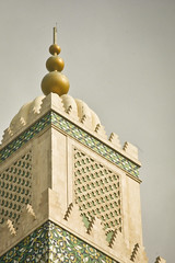 The minaret of the Hassan II Mosque (Jonmikel & Kat-YSNP) Tags: casablanca morocco march 2007