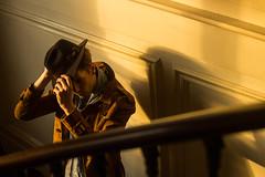 Tom (luciesmeriglio) Tags: model paris parisian french homme man boy sun light sunlight soleil rayons golden hour goldenhour color colour photoshoot building vintage retro style fashion hat coat scarf portrait chapeau modle veste artiste art