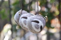 Noristudio sloth coin purse (noristudio3o) Tags: sloth purse coin wet felting noristudio nori studio kiss lock pouch felted