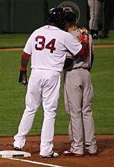 Papi counsels Chris Davis (ConfessionalPoet) Tags: redsox baseball davidortiz bigpapi designatedhitter dh chrisdavis baltimoreorioles firstbaseman firstbase 1b baserunner