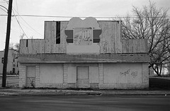 Store front, New Jersey (Michael Bugler Studio) Tags: urbandecay roadside signage 7up blackwhite