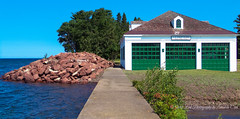 Life Saving (1 of 1) (amndcook) Tags: keweenaw michigan outdoors boathouse coastguard eagleharbor rescue rocks station upperpeninsula uscg