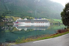 Reflections ( Annieta ) Tags: annieta juli 2016 sony a6000 holiday vakantie vacances noorwegen norway norvge fjord water boot boat ship cruiseship allrightsreserved usingthispicturewithoutpermissionisillegal po reflection weerspiegeling mirror soe