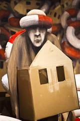 Habit (Gerard Hermand) Tags: 1609114372 gerardhermand france paris canon eos5dmarkii formatportrait malakoff larserve philippehrard art rue street homme man boue buoy carton cardboard maison house