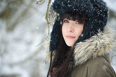 Beauty in the snow (gestiefeltekatze) Tags: portrait snow beauty hat daylight model russian