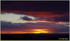 Winter Sunset in Angus (explored) (eric robb niven) Tags: winter sunset walking landscape scotland dundee pentaxkx newtyle ericrobbniven