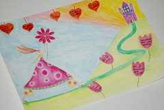 Celebration and Journey (seelenschimmer) Tags: art painting whimsy drawing week1 whimsicalart lifebook2013 celebrationandjourney