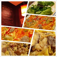 supper (toshisyung) Tags: food mobile photo salad pasta pizza meal yokohama supper      italian