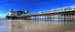 Seaside Pier (AreKev) Tags: grandpier grand pier wet sand beach seaside marineparade bristolchannel westonsupermare somerset northsomerset england uk hdr sonydschx20v photobook photomatixpro tonemapped
