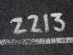 2213 (Eva the Weaver) Tags: parking ground number asphalt 2213