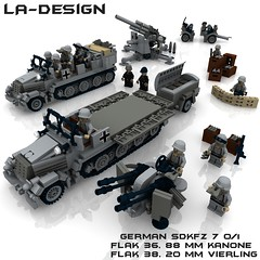 LEGO German SdKfz 7 FLak 38 Pak 88 mm 4 (LA-Design2012) Tags: lego wwii 7 71 sd german ww2 instructions pdf mm 20 custom 88 36 xml flak 38 pak moc kfz sdkfz bauanleitung ladesign flakvierling