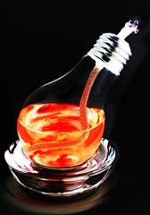 927-03 (Joe-Lynn Design) Tags: red black glass lightbulb photomanipulation oillamp