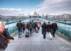 Millenium Bridge (cgull123) Tags: bridge london thames cathedral millenium pauls