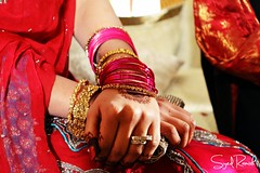 Henna, Bangles and Gold (Syed Ramish) Tags: pink wedding pakistan girl beautiful diamonds gold bride hands perfect dress rings pakistani hassan bridal henna syed mehndi bangles ramish