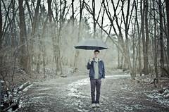 Cam Kennedy Umbrella (Evan.Duncan.) Tags: blue winter fashion umbrella canon season 50mm spring nice woods purple mark iii clothes hm