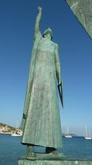 P1120050 (I Will, therefore I am) Tags: statue ancient triangle hellas greece samos pythagoras       pythagoreio