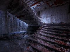 Freezing Stairs of Buzludzha, Bulgaria (inhiu) Tags: longexposure abandoned night stairs dark nikon decay freezing communist communism bulgaria tones hdr d800 shipka buzludzha inhiu