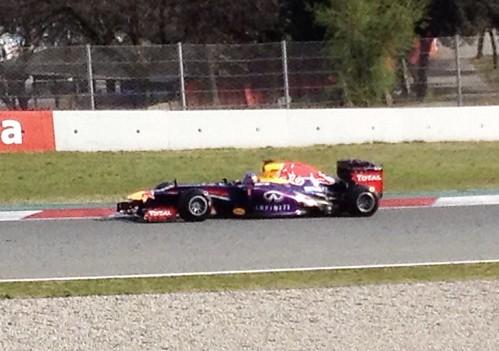 Sebastian Vettel at Formula One Winter Testing 2013