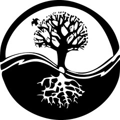 Yin yang tree (JDdeCarteret) Tags: life wood white black tree art nature silhouette illustration cutout design flora day branch peace seasons graphic natural drawing earth trace clip growth arbor health yang elements clipart twig land trunk environment strong isolation growing organic concept yin limb vector isolated contour thrive