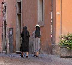 Rome (Globetreka) Tags: people italy rome roma tourism architecture walking women europe artistic candid religion cities hats streetphotography