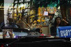 ,,, BKK Bus ,,, (Jon in Thailand) Tags: woman man reflection bus thailand nikon asia bangkok streetphotography pole tuktuk driver nikkor d300 powerpoles 175528