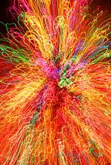 Cosmic phenomenon? (Barbie West) Tags: longexposure lightpainting lights zoom christmaslights zoomeffect