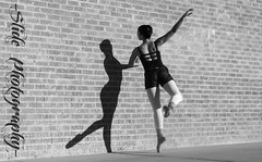 Parallel (-Slide Photography-) Tags: shadow ballet woman girl beautiful beauty wall lady canon photography is dance slide dancer powershot hopkins s5 finkbeiner s5is tristii