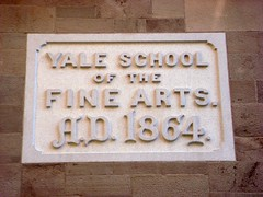 YALE SCHOOL OF THE FINE ARTS. A.D. 1864. (Nick Sherman) Tags: architecture ct newhaven lettering yale yaleuniversity