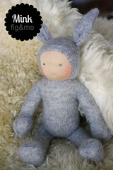 Mr Mink (Fig & Me) Tags: rabbit bunny easter dolls natural handmade babydoll cashmere boneca mueca poupe lalka clothdoll popje stoffpuppe waldorfinspired figandme