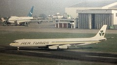 Aer Turas DC 8 & Boeing 747 Jumbo Jet in background Dublin Airport (gallftree008) Tags: old dublin rescue classic airport aircraft aeroplane retro boeing aer dub aerlingus jumbojet aeroplanes jumbo dap dublinairport lingus c1980 turas aerturas pierb pierbpavilion oldphotosrescuedscanned rescuedscanned olddublinairportphotos takenfromoriginalsonwall