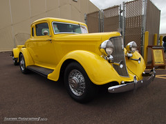 Hot Rod Yellow (Swanee 3) Tags: classic yellow classiccar plymouth hotrod custom coupe 1934 carshow rumbleseat goodguys wiredwheels pfxx