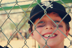 1toothless (moke076) Tags: b white black game eye smile tooth happy kid missing ben sox fairy nephew passage rite tball