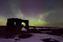 Fortress of Northern Light  Rob Watkins 2013 (Aland Rob) Tags: winter sea snow ice nature suomi finland wonder islands balticsea baltic aurora finnish northernlights auroraborealis archipelago borealis aland land dancinglight bomarsund notvikstornet