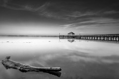 hinode in mono (dK.i photography (losing views, thanks panda!)) Tags: blackandwhite colors sunrise reflections dawn virginia pier early awesome potomacriver woodbridge dst reflectedlight byrequest lateagain neutraldensityfilter leesylvaniastatepark almostmissedit singhrayvarintrio damnalarmclock formaopic