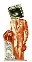Shy low batery *Hommo Videns (General Popó) Tags: green eye collage vintage paper ojo surrealism glue low battery surreal shy suit bateria surrealist baja sombrero papel sir decent traje surrealismo tijeras sissors timido pegamento colado cabizbajo videns hommo