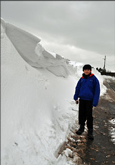 Snowdrift - Hagg Hill (littlestschnauzer) Tags: road uk england white snow cold west weather wall rural march countryside back spring high nikon village yorkshire country hill snowdrift luke north deep freezing son scene blocked roads snowfall heavy 24th depth height sculpted drift huddersfield mega snowed hagg wintry emley 2013 d5000 elementsorganizer11 2432013