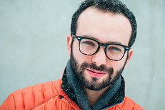 . (DEARTH !) Tags: city orange snow scarf beard snowflakes glasses colorado unitedstates denver rayban dearth downjacket golite michaelsalerno
