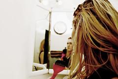 086/365 - Touch Up (Gunn Point) Tags: portrait woman selfportrait hair bathroom mirror nikon lashes roots brush 365 touchup dye spc falsies 365days 365project nikond3100 pad2013365