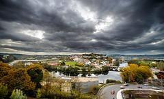 Storm is coming (Miguel A. Quintás V.) Tags: bridge autumn storm rio clouds landscape puente nikon paisaje gazebo nubes tormenta lugo mirador quintas otoo voltadaviña
