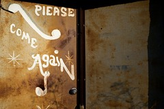 Please Come Again (MilkaWay) Tags: door abandoned sign bar club georgia rust closed message sparta establishment theforgotten hancockcounty pleasecomeagain ga15