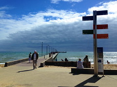 mar13 939 (raqib) Tags: blue sea sky beach mobile pier australia melbourne rc frankston iphone shadesofblue frankstonpier raqib raqibchowdhury