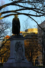 John Barry At Golden Hour (Patrick DB) Tags: sunset statue canon dc washington goldenhour johnbarry 60d