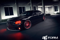 f210-redvelvet-srt8-sidefront (AvantGardeWheels) Tags: red wheels velvet ag dodge form avant charger garde srt srt8 f210