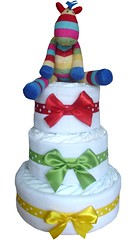 stripey-horse-3-tier-nappy-cakes (Labours Of Love Baby Gifts) Tags: nappycake nappycakes newbabygifts